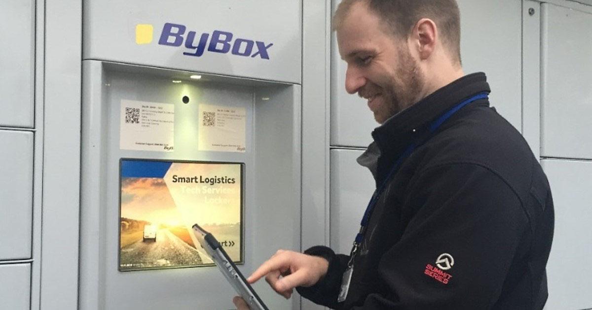 Locker installation for Bybox
